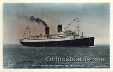 shi004161 - SS Ile De France Steamer, Steam Boat, Ship Ships, Postcard Postcards