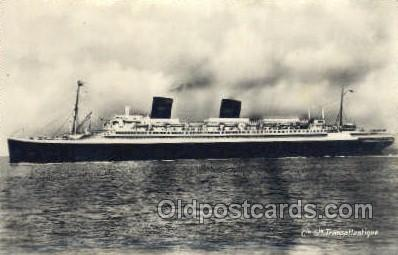 shi004163 - SS Ile De France Steamer, Steam Boat, Ship Ships, Postcard Postcards