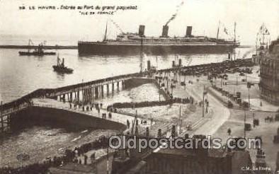 shi004164 - SS Ile De France Steamer, Steam Boat, Ship Ships, Postcard Postcards