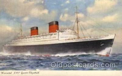shi005035 - Queen Mary - Cunard Ship Ships Postcard Postcards