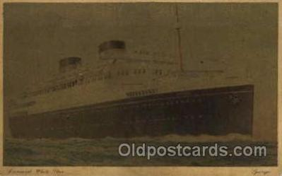 shi005043 - Georgic - Cunard Ship Ships Postcard Postcards