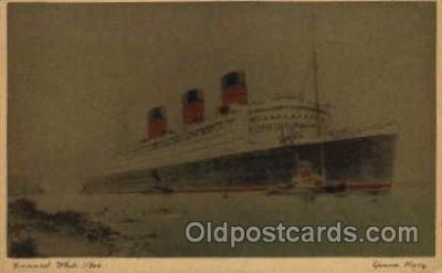 shi005044 - Queen Mary - Cunard Ship Ships Postcard Postcards