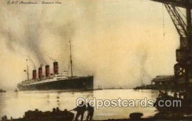 shi005048 - Mauretania - Cunard Ship Ships Postcard Postcards