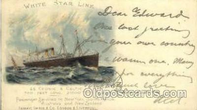shi005072 - S.S. Cedric & Celtic Cunard White Star Line Ship, Ships, Postcard Postcards