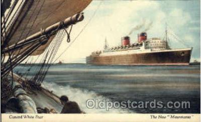 shi005082 - R.M.S. Mauretania Cunard White Star Line Ship, Ships, Postcard Postcards