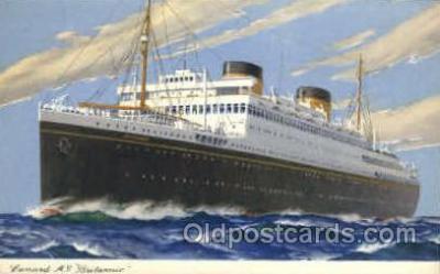 shi005083 - Britannic Cunard White Star Line Ship, Ships, Postcard Postcards