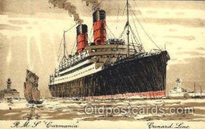 shi005084 - R.M.S. Carmania Cunard White Star Line Ship, Ships, Postcard Postcards