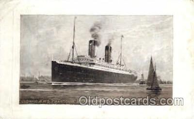 shi005094 - R.M.S. Franconia & Laconia Cunard White Star Line Ship, Ships, Postcard Postcards