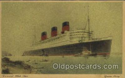shi005101 - Queen Mary Cunard White Star Line Ship, Ships, Postcard Postcards