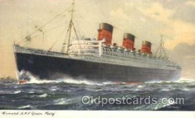 shi005103 - R.M.S. Queen Mary Cunard White Star Line Ship, Ships, Postcard Postcards