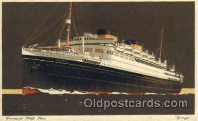 shi005104 - Georgic Cunard White Star Line Ship, Ships, Postcard Postcards