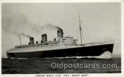 shi005113 - R.M.S. Queen Mary Cunard White Star Line Ship, Ships, Postcard Postcards