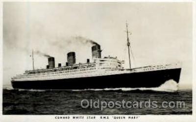 shi005115 - R.M.S. Queen Mary Cunard White Star Line Ship, Ships, Postcard Postcards