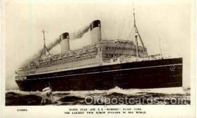 shi005120 - S.S. Homeric Cunard White Star Line Ship, Ships, Postcard Postcards