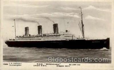 shi005123 - R.M.S. Berengaria Cunard White Star Line Ship, Ships, Postcard Postcards
