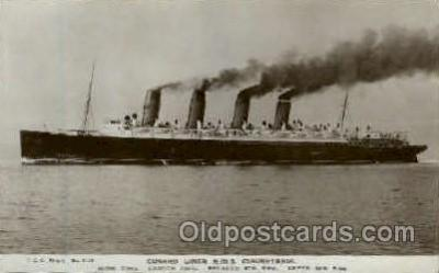 shi005128 - R.M.S. Mauretania Cunard White Star Line Ship, Ships, Postcard Postcards