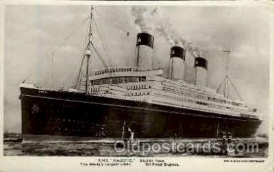 shi005131 - R.M.S. Majestic Cunard White Star Line Ship, Ships, Postcard Postcards