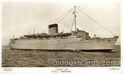 shi005132 - R.M.S. Caronia Cunard White Star Line Ship, Ships, Postcard Postcards