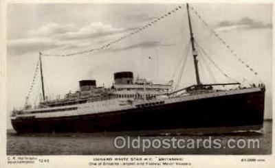 shi005139 - Britannic Cunard White Star Line Ship, Ships, Postcard Postcards