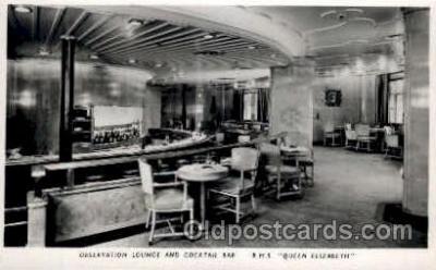 shi005149 - R.M.S. Queen Elizabeth Cunard White Star Line Ship, Ships, Postcard Postcards