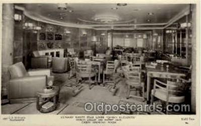 shi005150 - R.M.S. Queen Elizabeth Cunard White Star Line Ship, Ships, Postcard Postcards
