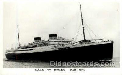 shi005162 - M.V. Britannic Cunard Line, Ship Ships Postcard Postcards
