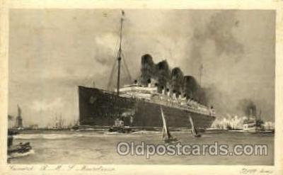 shi005167 - R.M.S. Mauretania Cunard Line, Ship Ships Postcard Postcards