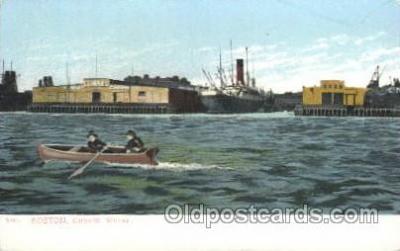 shi005181 - Cunard Wharf, Boston, USA Cunard Ship Ships Postcard Postcards