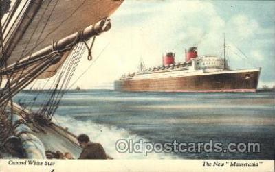 shi005184 - Mauretania Cunard Ship Ships Postcard Postcards