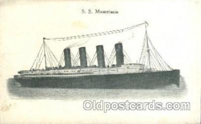 shi005189 - S.S. Mauretania Cunard Ship Ships Postcard Postcards