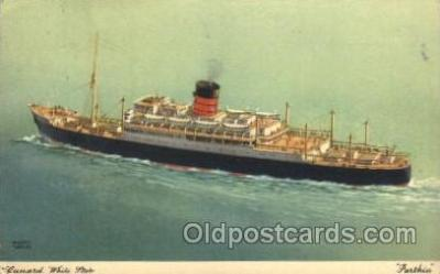 shi005191 - Parthia Cunard Ship Ships Postcard Postcards