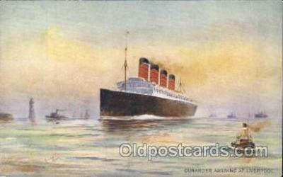 shi005192 - Cunarder  Cunard Ship Ships Postcard Postcards