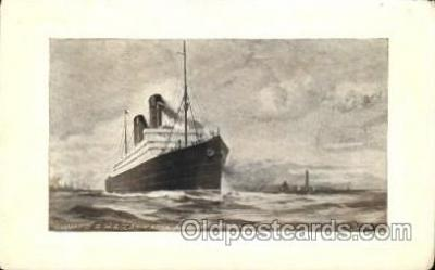 shi005202 - R.M.S. Carmania and Caronia Cunard Ship Ships Postcard Postcards