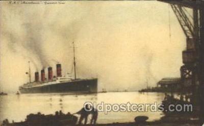 shi005216 - R.M.S. Mauretania Cunard Ship Ships Postcard Postcards