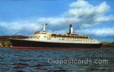 shi005219 - Queen Elizabeth Cunard Ship Ships Postcard Postcards