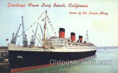 shi005220 - Queen Mary Cunard Ship Ships Postcard Postcards