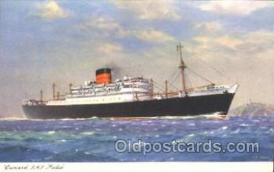 shi005226 - R.M.S. Media Cunard Ship Ships Postcard Postcards
