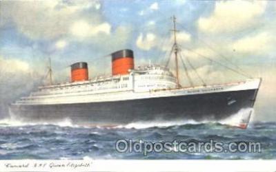 shi005231 - R.M.S. Queen Elizabeth Cunard Ship Ships Postcard Postcards