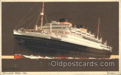 shi005241 - Georgic Cunard Ship Ships Postcard Postcards
