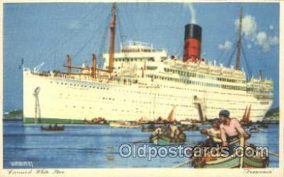 shi005243 - Franconia Cunard Ship Ships Postcard Postcards