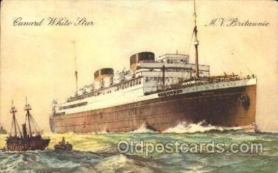 shi005247 - M.V. Britannic Cunard Ship Ships Postcard Postcards