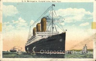 shi005267 - S.S. Berengaria, Cunard Line, New York,USA Cunard Ship Ships Postcard Postcards