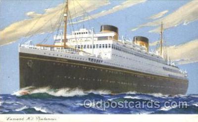 shi005268 - M.V. Britannic Cunard Ship Ships Postcard Postcards