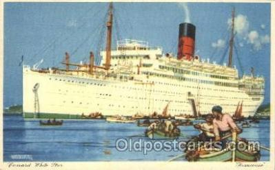 shi005271 - Franconia Cunard Ship Ships Postcard Postcards