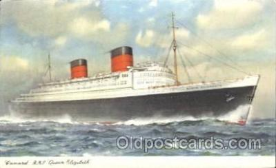 shi005276 - R.M.S. Queen Elizabeth Cunard Ship Ships Postcard Postcards