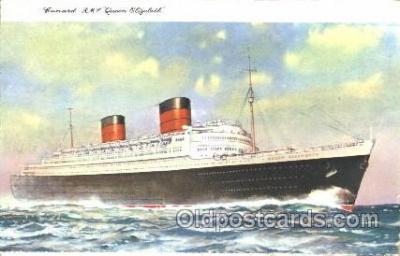 shi005283 - R.M.S. Queen Elizabeth Cunard Ship Ships Postcard Postcards