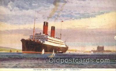 shi005284 - R.M.S. Caronia and Caronia Cunard Ship Ships Postcard Postcards