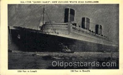 shi005285 - The Queen Mary Cunard Ship Ships Postcard Postcards