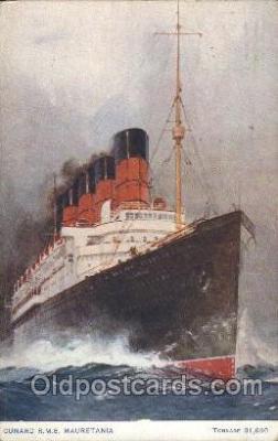 shi005295 - R.M.S. Mauretania Cunard Ship Ships Postcard Postcards