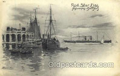 shi006015 - Antwerpen-New York, USA Red Star Line Postcard Postcards